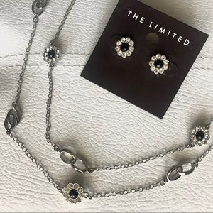 The Limited Crystal Flower Necklace/Earring Set